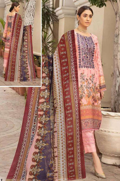 Sana Safinaz Luxury Lawn Collection Vol 9 Salwar Suit Wholesale Catalog 8 Pcs