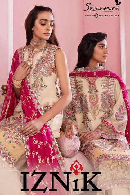Serene Iznik Salwar Suit Wholesale Catalog 5 Pcs - Serene Iznik Salwar Suit Wholesale Catalog 5 Pcs