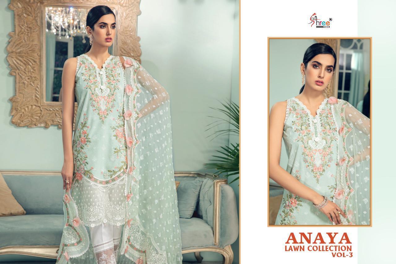 Shree Fabs Anaya Lawn Collection Vol 3 Salwar Suit Wholesale Catalog 4 Pcs 3 - Shree Fabs Anaya Lawn Collection Vol 3 Salwar Suit Wholesale Catalog 4 Pcs