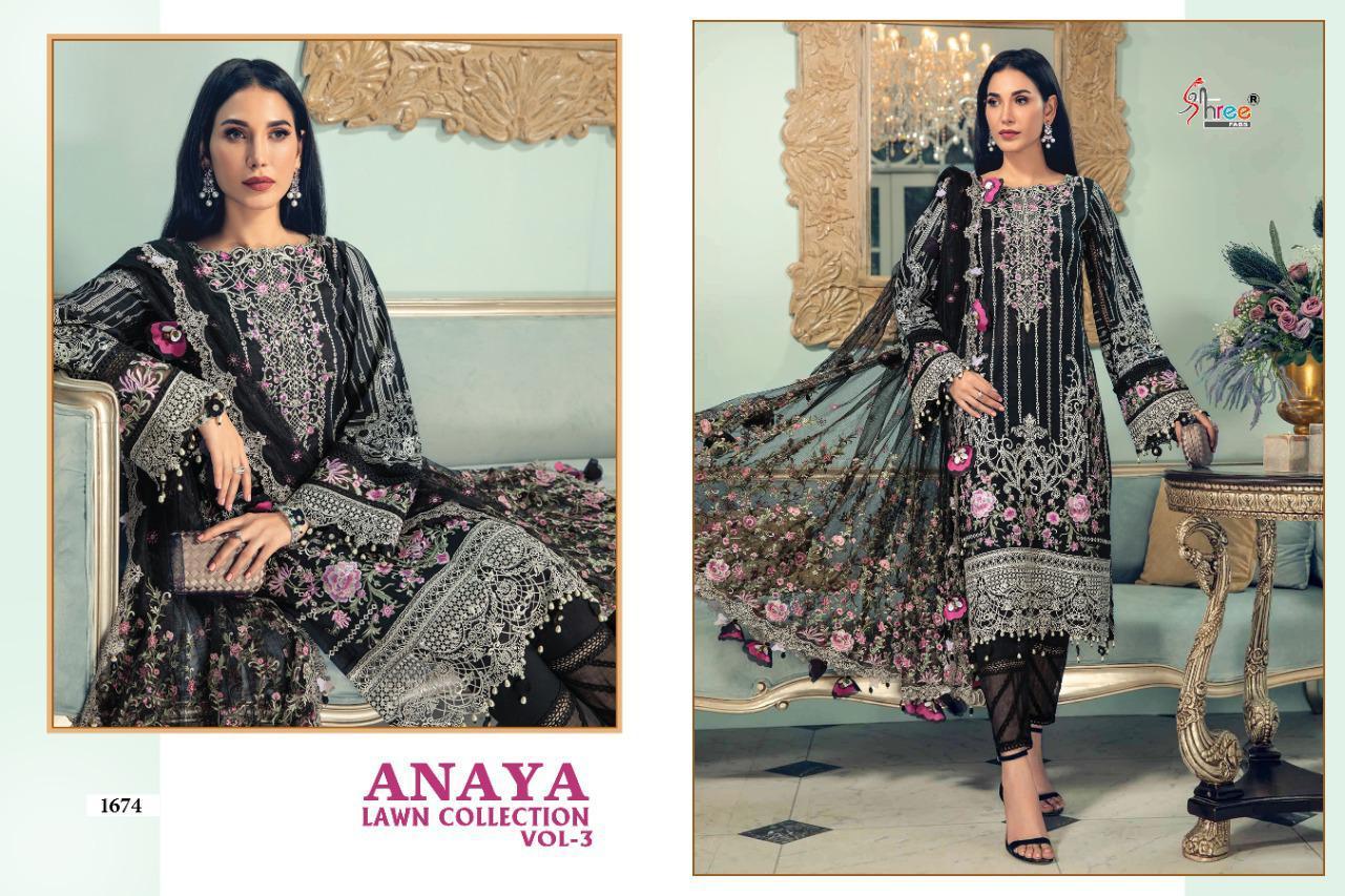 Shree Fabs Anaya Lawn Collection Vol 3 Salwar Suit Wholesale Catalog 4 Pcs 6 - Shree Fabs Anaya Lawn Collection Vol 3 Salwar Suit Wholesale Catalog 4 Pcs