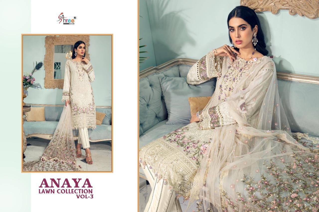 Shree Fabs Anaya Lawn Collection Vol 3 Salwar Suit Wholesale Catalog 4 Pcs 9 - Shree Fabs Anaya Lawn Collection Vol 3 Salwar Suit Wholesale Catalog 4 Pcs