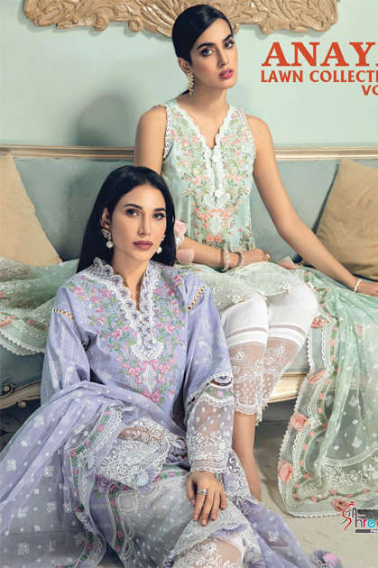 Shree Fabs Anaya Lawn Collection Vol 3 Salwar Suit Wholesale Catalog 4 Pcs - Shree Fabs Anaya Lawn Collection Vol 3 Salwar Suit Wholesale Catalog 4 Pcs
