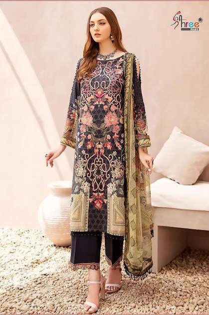 Shree Fabs Chevron Luxury Lawn Collection Vol 1 Salwar Suit Wholesale Catalog 7 Pcs