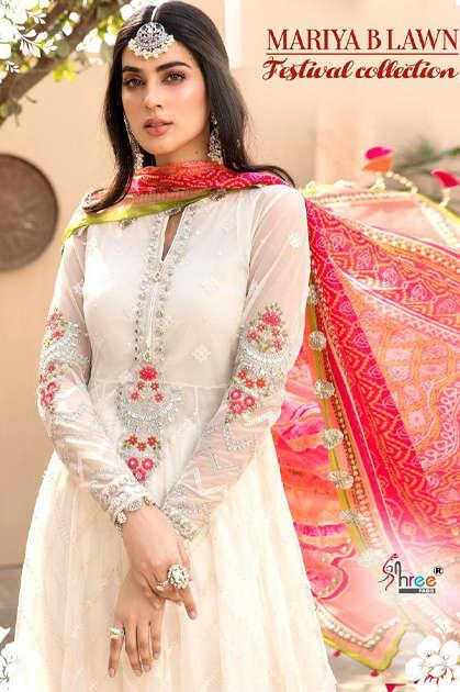 Shree Fabs Mariya B Lawn Festival Collection Salwar Suit Wholesale Catalog 8 Pcs