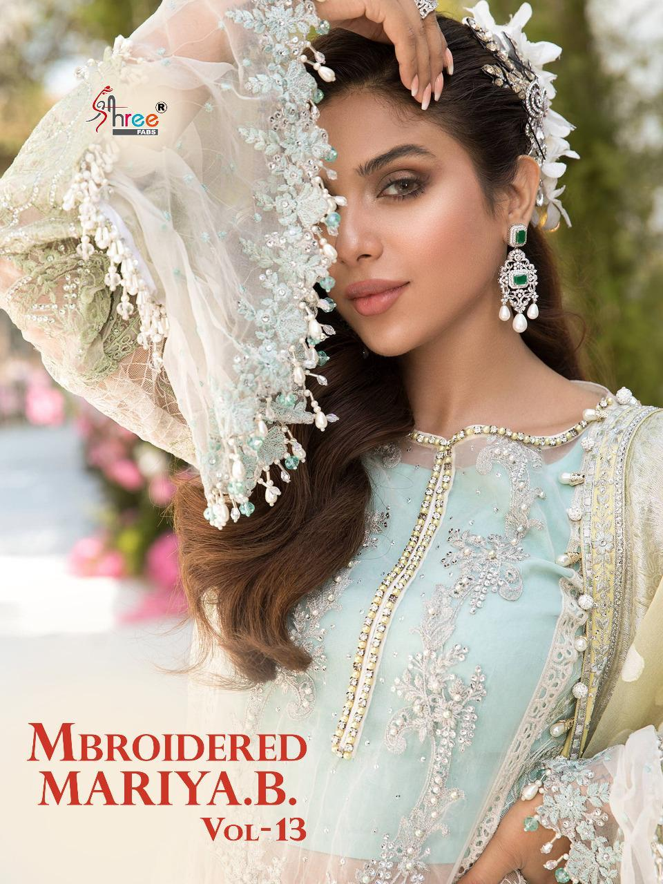 Shree Fabs Mbroidered Mariya B Vol 13 Salwar Suit Wholesale Catalog 6 Pcs 1 - Shree Fabs Mbroidered Mariya B Vol 13 Salwar Suit Wholesale Catalog 6 Pcs