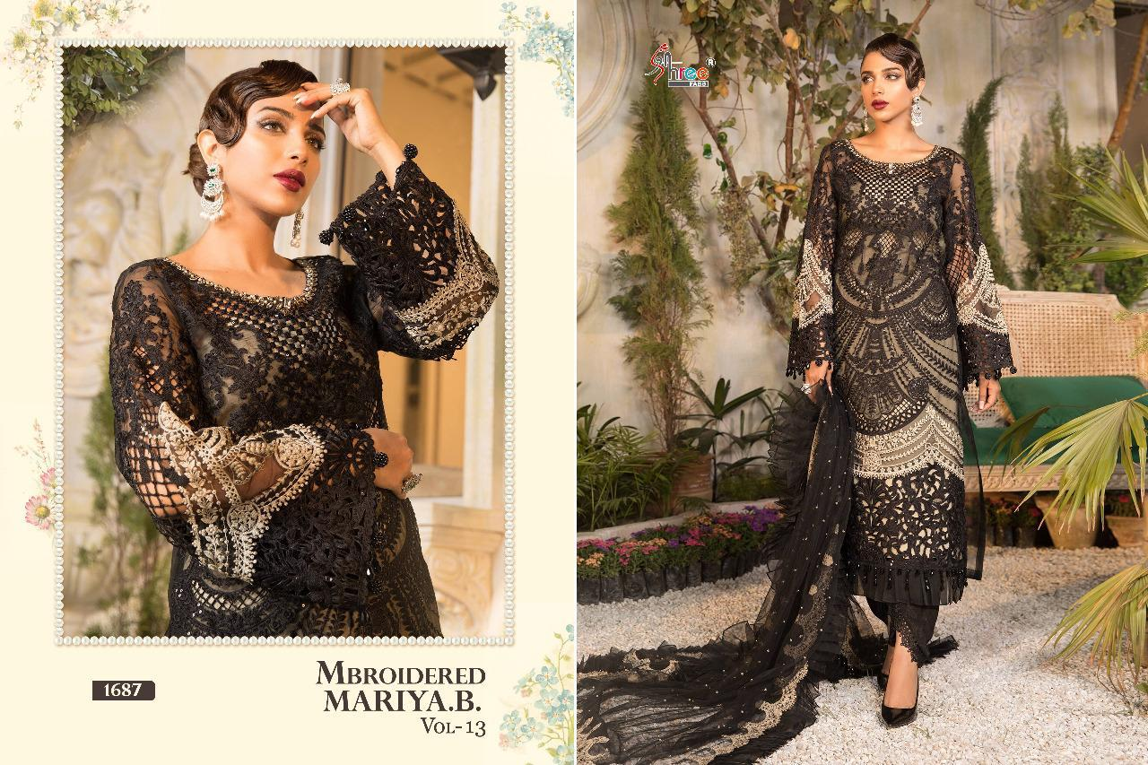 Shree Fabs Mbroidered Mariya B Vol 13 Salwar Suit Wholesale Catalog 6 Pcs 10 - Shree Fabs Mbroidered Mariya B Vol 13 Salwar Suit Wholesale Catalog 6 Pcs