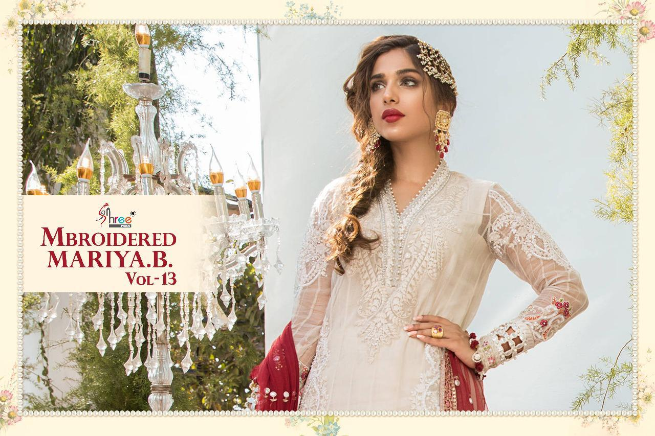 Shree Fabs Mbroidered Mariya B Vol 13 Salwar Suit Wholesale Catalog 6 Pcs 11 - Shree Fabs Mbroidered Mariya B Vol 13 Salwar Suit Wholesale Catalog 6 Pcs