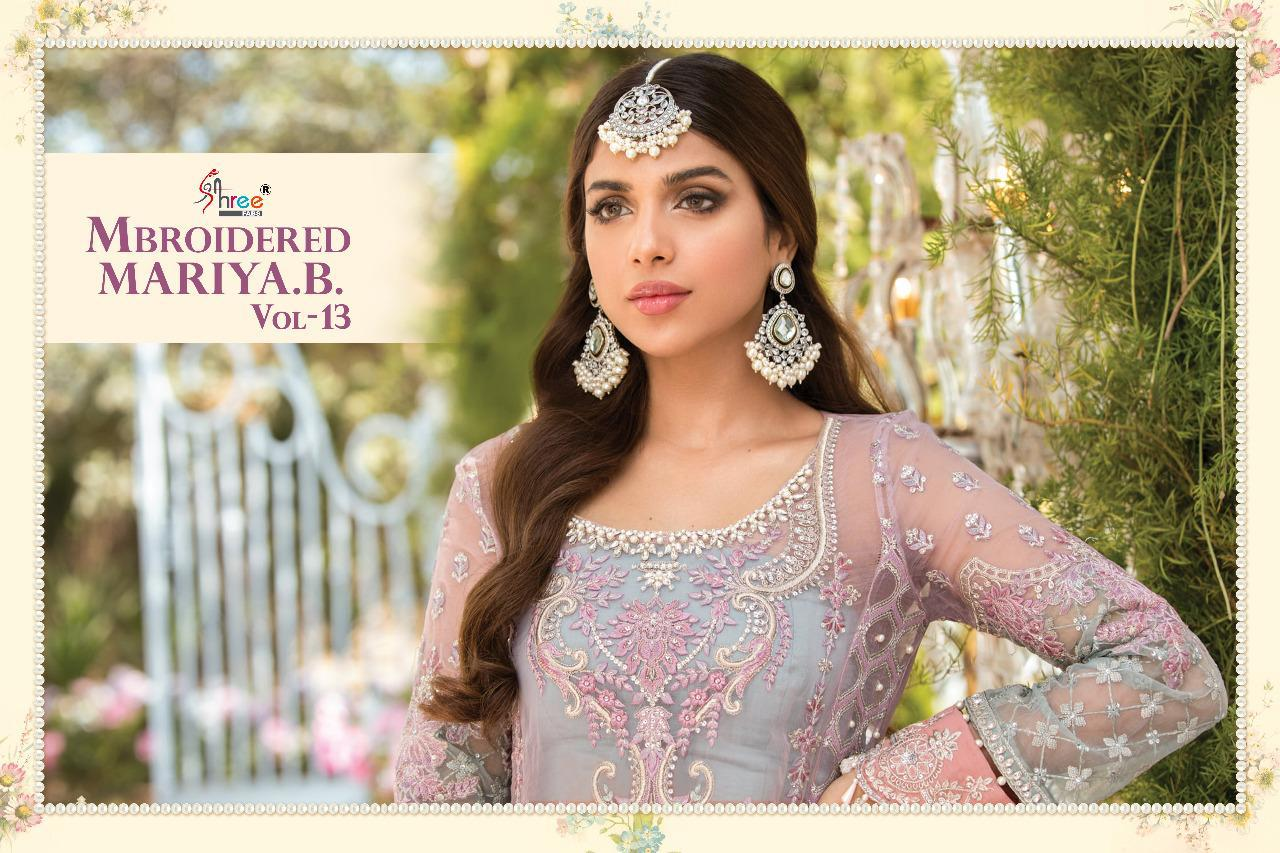 Shree Fabs Mbroidered Mariya B Vol 13 Salwar Suit Wholesale Catalog 6 Pcs 12 - Shree Fabs Mbroidered Mariya B Vol 13 Salwar Suit Wholesale Catalog 6 Pcs