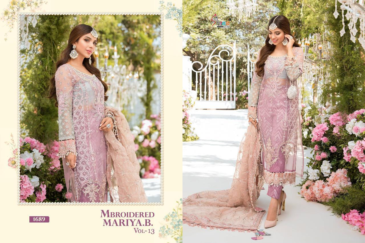 Shree Fabs Mbroidered Mariya B Vol 13 Salwar Suit Wholesale Catalog 6 Pcs 13 - Shree Fabs Mbroidered Mariya B Vol 13 Salwar Suit Wholesale Catalog 6 Pcs