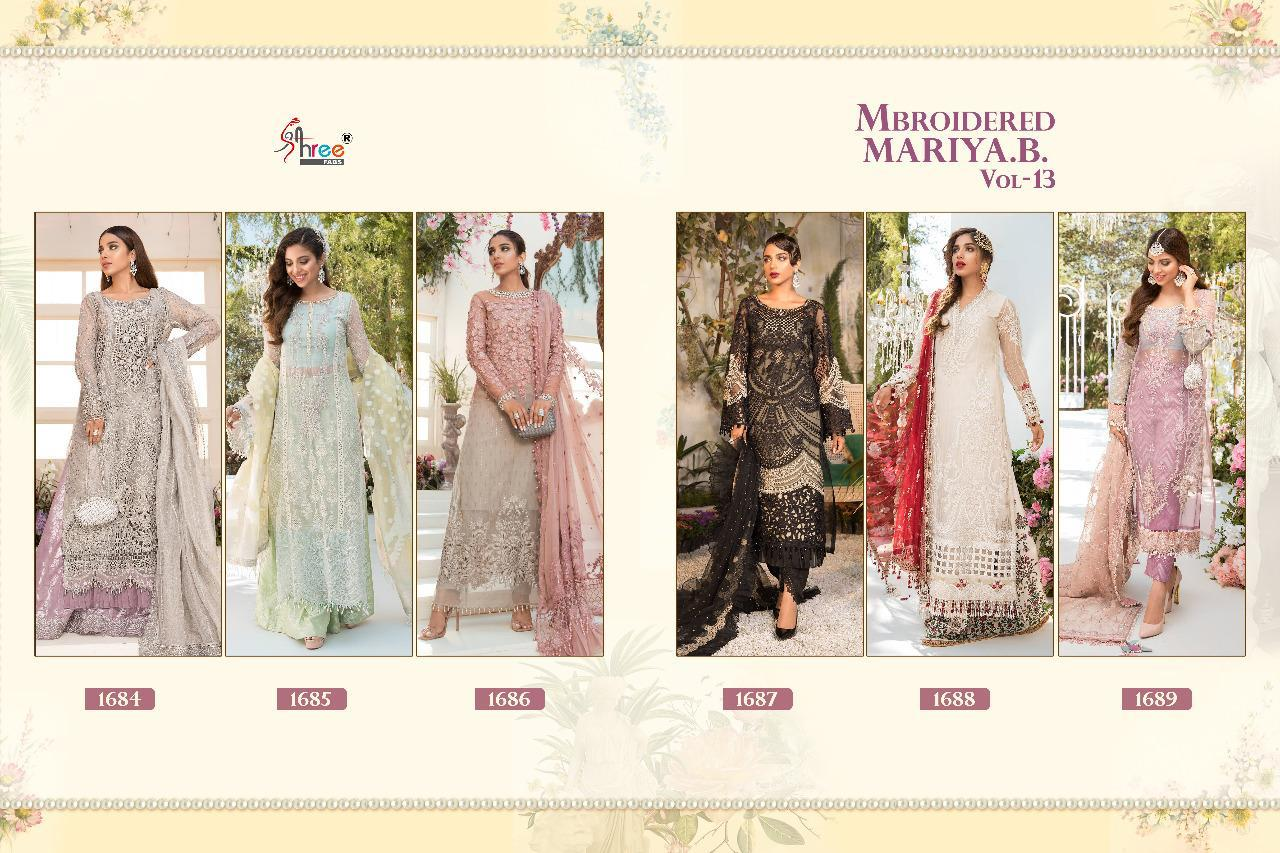 Shree Fabs Mbroidered Mariya B Vol 13 Salwar Suit Wholesale Catalog 6 Pcs 14 - Shree Fabs Mbroidered Mariya B Vol 13 Salwar Suit Wholesale Catalog 6 Pcs