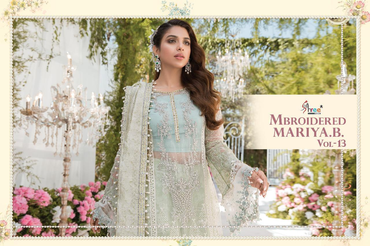 Shree Fabs Mbroidered Mariya B Vol 13 Salwar Suit Wholesale Catalog 6 Pcs 2 - Shree Fabs Mbroidered Mariya B Vol 13 Salwar Suit Wholesale Catalog 6 Pcs