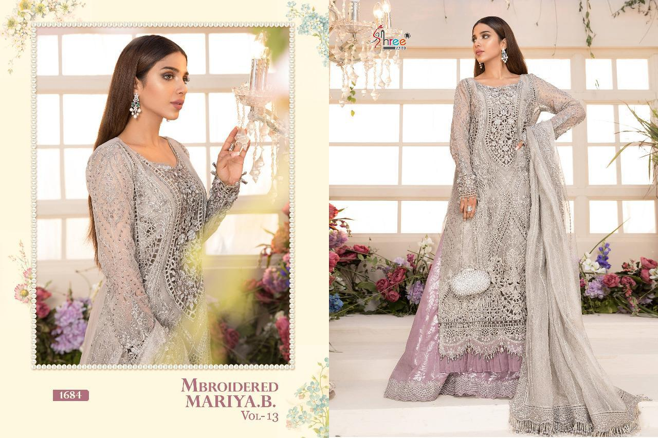 Shree Fabs Mbroidered Mariya B Vol 13 Salwar Suit Wholesale Catalog 6 Pcs 4 - Shree Fabs Mbroidered Mariya B Vol 13 Salwar Suit Wholesale Catalog 6 Pcs