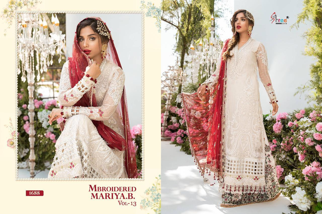 Shree Fabs Mbroidered Mariya B Vol 13 Salwar Suit Wholesale Catalog 6 Pcs 5 - Shree Fabs Mbroidered Mariya B Vol 13 Salwar Suit Wholesale Catalog 6 Pcs