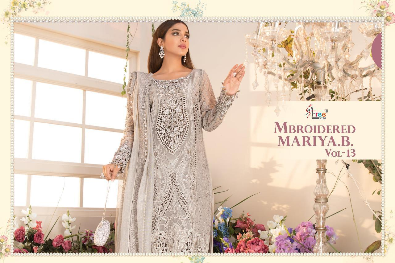 Shree Fabs Mbroidered Mariya B Vol 13 Salwar Suit Wholesale Catalog 6 Pcs 6 - Shree Fabs Mbroidered Mariya B Vol 13 Salwar Suit Wholesale Catalog 6 Pcs