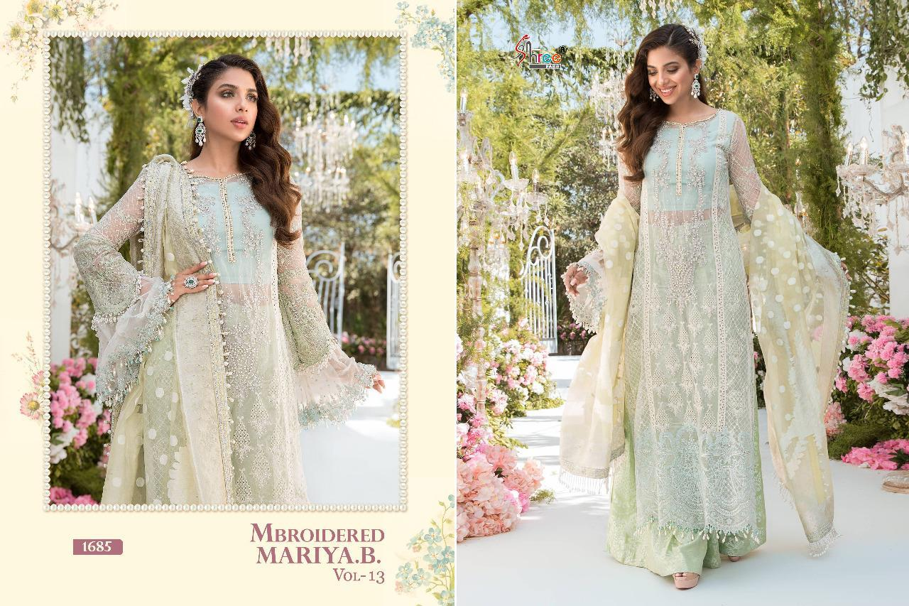Shree Fabs Mbroidered Mariya B Vol 13 Salwar Suit Wholesale Catalog 6 Pcs 7 - Shree Fabs Mbroidered Mariya B Vol 13 Salwar Suit Wholesale Catalog 6 Pcs