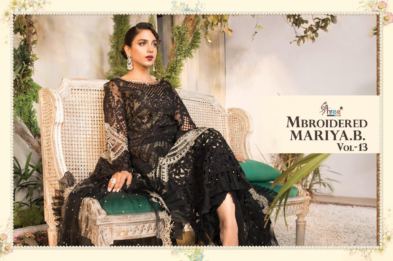 Shree Fabs Mbroidered Mariya B Vol 13 Salwar Suit Wholesale Catalog 6 Pcs 8 - Shree Fabs Mbroidered Mariya B Vol 13 Salwar Suit Wholesale Catalog 6 Pcs