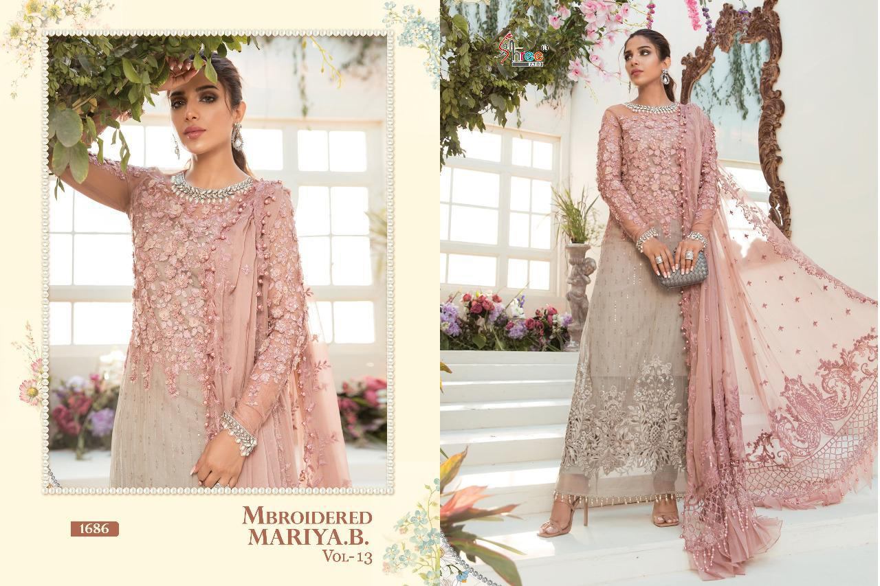 Shree Fabs Mbroidered Mariya B Vol 13 Salwar Suit Wholesale Catalog 6 Pcs 9 - Shree Fabs Mbroidered Mariya B Vol 13 Salwar Suit Wholesale Catalog 6 Pcs