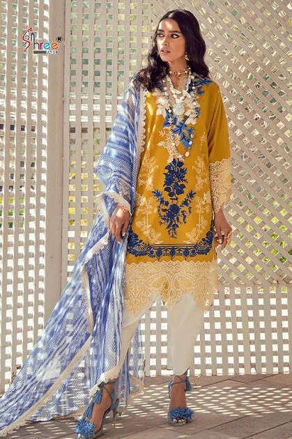 Shree Fabs Sana Safinaz Premium Lawn Collection Vol 4 Salwar Suit Wholesale Catalog 8 Pcs