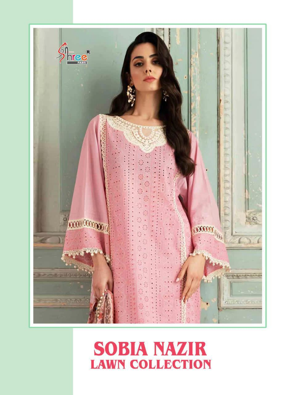 Shree Fabs Sobia Nazir Lawn Collection Salwar Suit Wholesale Catalog 5 Pcs 1 - Shree Fabs Sobia Nazir Lawn Collection Salwar Suit Wholesale Catalog 5 Pcs