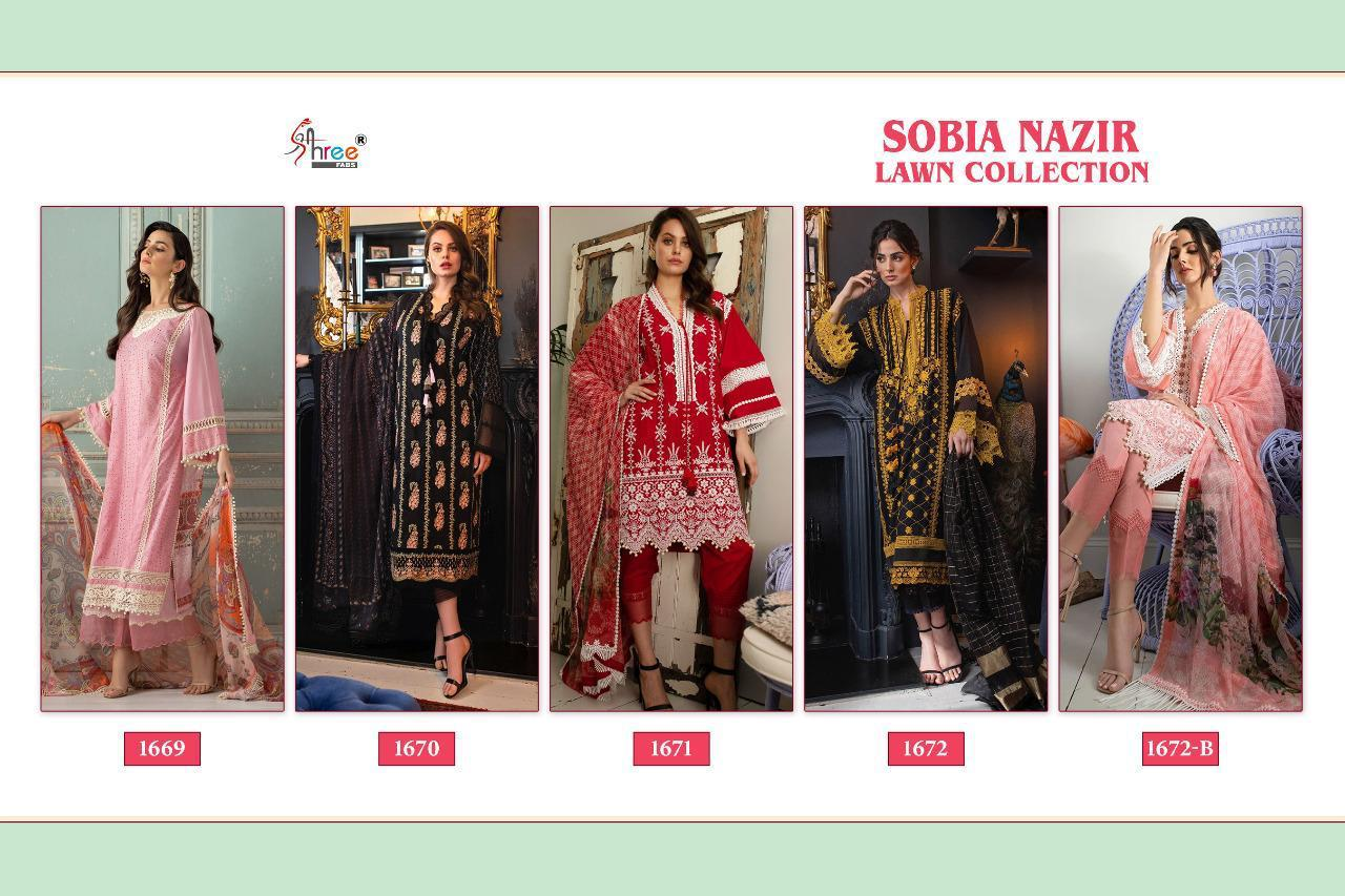 Shree Fabs Sobia Nazir Lawn Collection Salwar Suit Wholesale Catalog 5 Pcs 10 - Shree Fabs Sobia Nazir Lawn Collection Salwar Suit Wholesale Catalog 5 Pcs