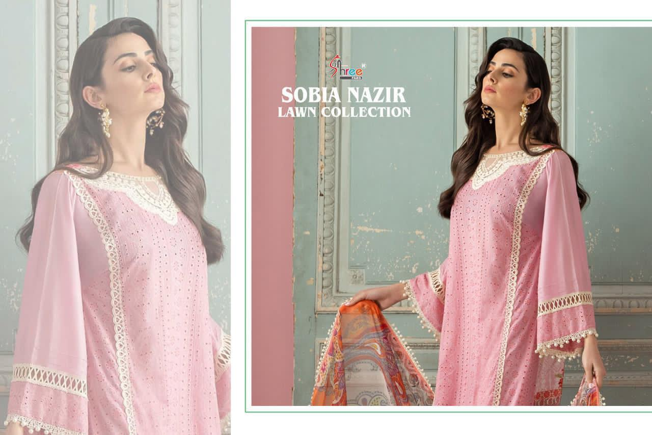 Shree Fabs Sobia Nazir Lawn Collection Salwar Suit Wholesale Catalog 5 Pcs 3 - Shree Fabs Sobia Nazir Lawn Collection Salwar Suit Wholesale Catalog 5 Pcs