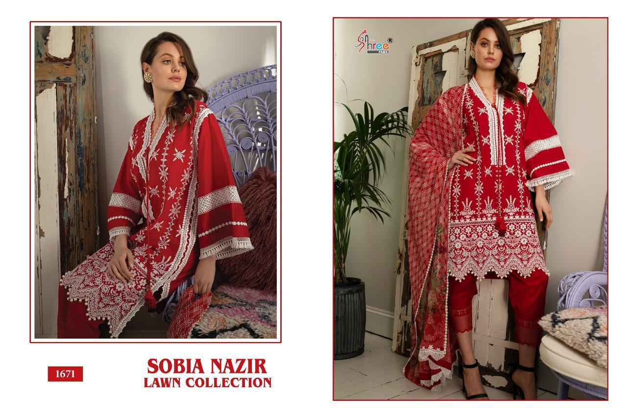 Shree Fabs Sobia Nazir Lawn Collection Salwar Suit Wholesale Catalog 5 Pcs 5 - Shree Fabs Sobia Nazir Lawn Collection Salwar Suit Wholesale Catalog 5 Pcs
