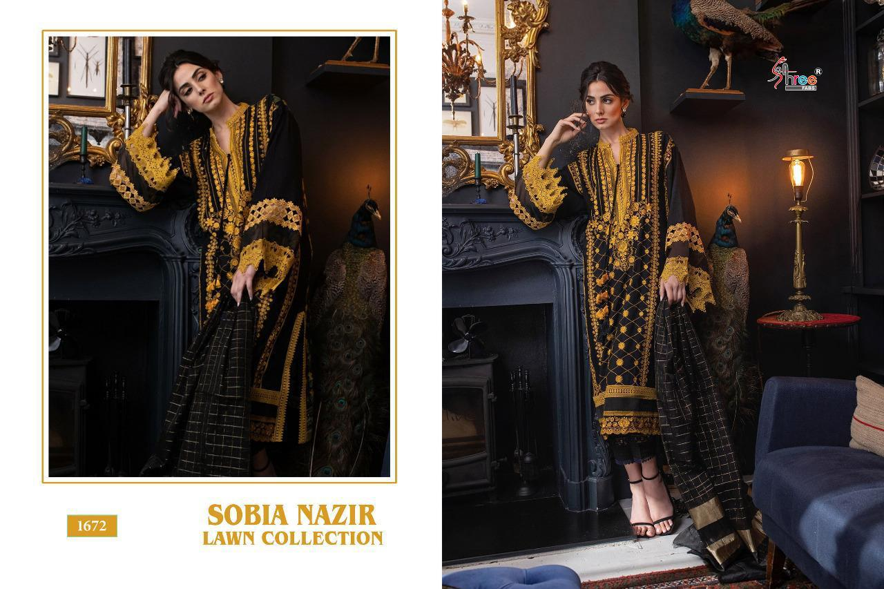 Shree Fabs Sobia Nazir Lawn Collection Salwar Suit Wholesale Catalog 5 Pcs 6 - Shree Fabs Sobia Nazir Lawn Collection Salwar Suit Wholesale Catalog 5 Pcs
