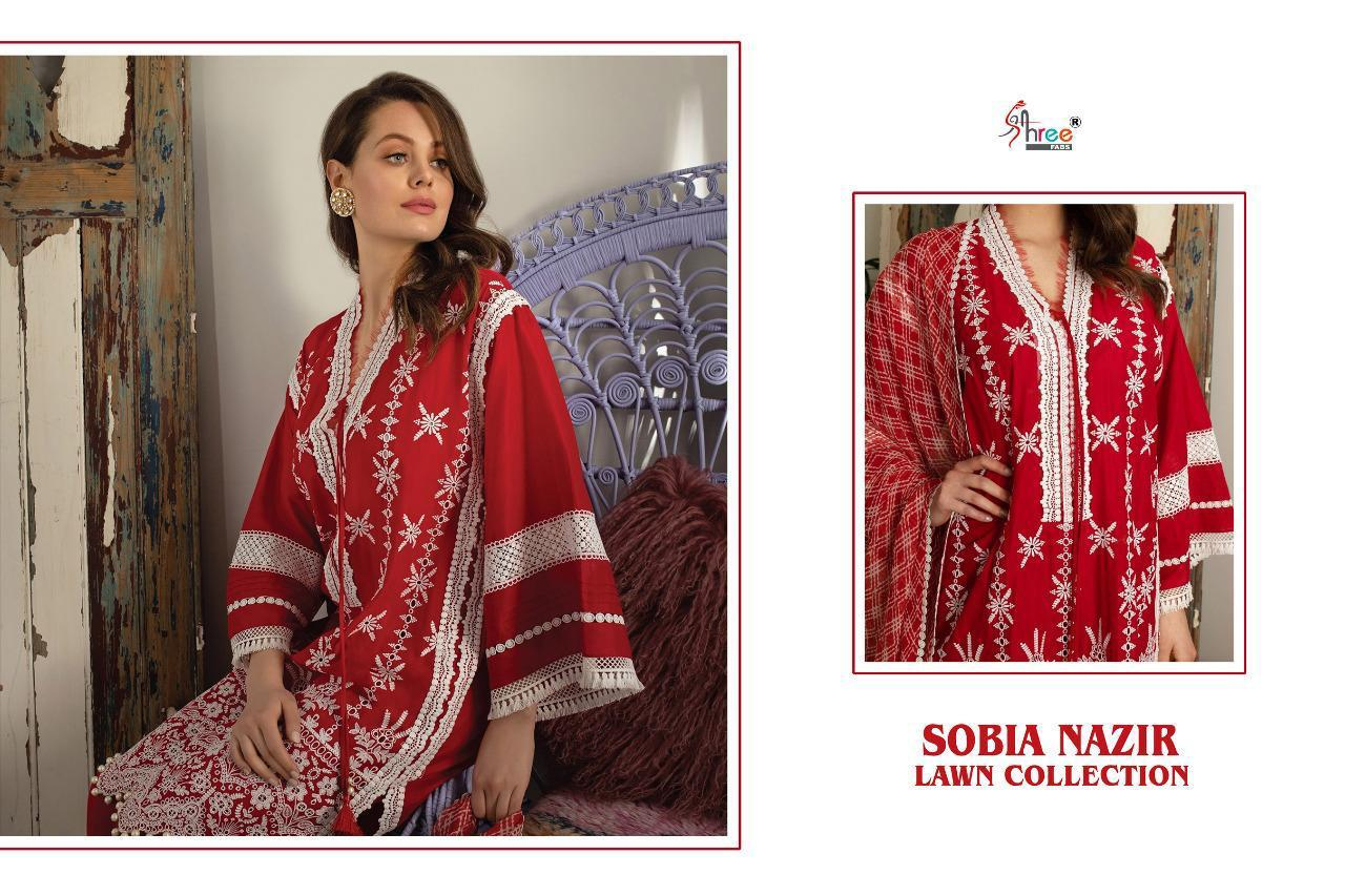 Shree Fabs Sobia Nazir Lawn Collection Salwar Suit Wholesale Catalog 5 Pcs 7 - Shree Fabs Sobia Nazir Lawn Collection Salwar Suit Wholesale Catalog 5 Pcs