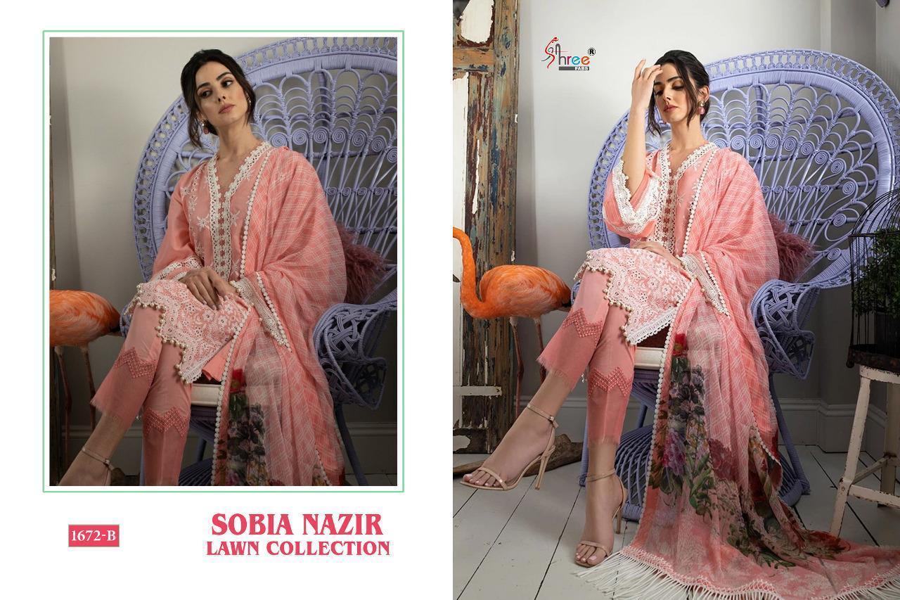 Shree Fabs Sobia Nazir Lawn Collection Salwar Suit Wholesale Catalog 5 Pcs 8 - Shree Fabs Sobia Nazir Lawn Collection Salwar Suit Wholesale Catalog 5 Pcs