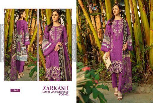 Shree Fabs Zarkash Luxury Lawn Collection Vol 2 Salwar Suit Wholesale Catalog 7 Pcs 10 510x342 - Shree Fabs Zarkash Luxury Lawn Collection Vol 2 Salwar Suit Wholesale Catalog 7 Pcs