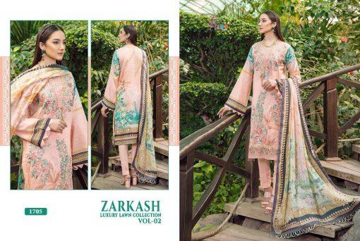 Shree Fabs Zarkash Luxury Lawn Collection Vol 2 Salwar Suit Wholesale Catalog 7 Pcs 12 510x342 - Shree Fabs Zarkash Luxury Lawn Collection Vol 2 Salwar Suit Wholesale Catalog 7 Pcs