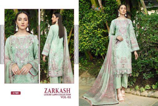 Shree Fabs Zarkash Luxury Lawn Collection Vol 2 Salwar Suit Wholesale Catalog 7 Pcs 13 510x342 - Shree Fabs Zarkash Luxury Lawn Collection Vol 2 Salwar Suit Wholesale Catalog 7 Pcs