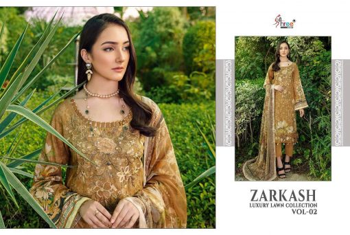 Shree Fabs Zarkash Luxury Lawn Collection Vol 2 Salwar Suit Wholesale Catalog 7 Pcs 5 510x342 - Shree Fabs Zarkash Luxury Lawn Collection Vol 2 Salwar Suit Wholesale Catalog 7 Pcs