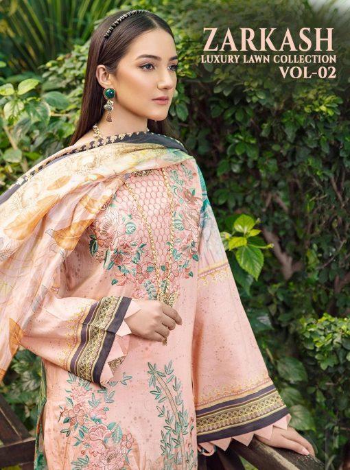 Shree Fabs Zarkash Luxury Lawn Collection Vol 2 Salwar Suit Wholesale Catalog 7 Pcs 8 510x685 - Shree Fabs Zarkash Luxury Lawn Collection Vol 2 Salwar Suit Wholesale Catalog 7 Pcs