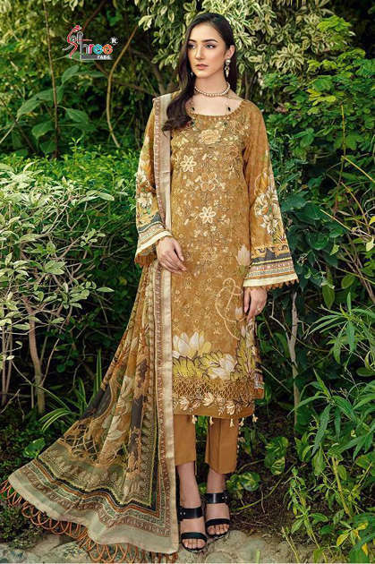 Shree Fabs Zarkash Luxury Lawn Collection Vol 2 Salwar Suit Wholesale Catalog 7 Pcs