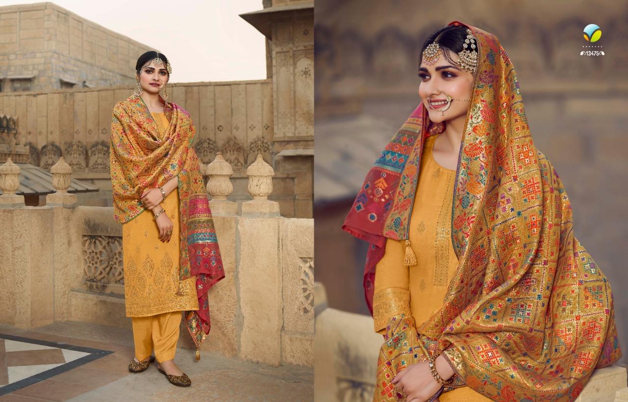 Vinay Kaseesh Bunaai Prachi Desai Salwar Suit Wholesale Catalog 8 Pcs 13 - Vinay Kaseesh Bunaai Prachi Desai Salwar Suit Wholesale Catalog 8 Pcs