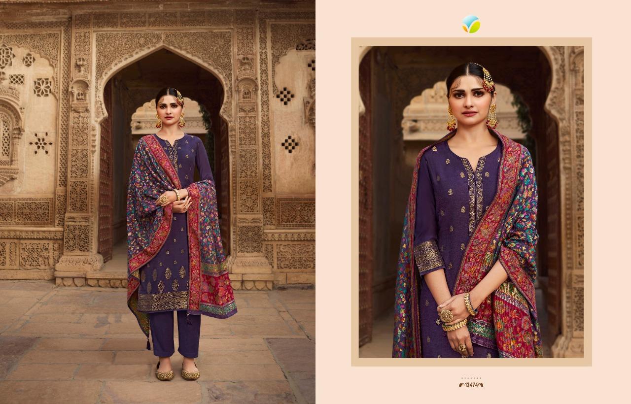 Vinay Kaseesh Bunaai Prachi Desai Salwar Suit Wholesale Catalog 8 Pcs 3 - Vinay Kaseesh Bunaai Prachi Desai Salwar Suit Wholesale Catalog 8 Pcs