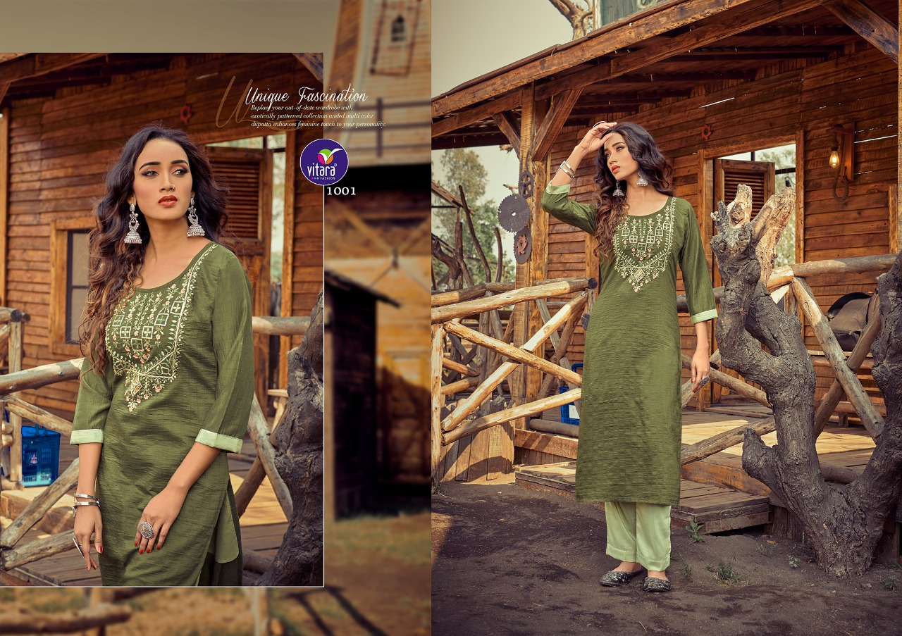 Vitara Rose Marrei Kurti with Pant Wholesale Catalog 6 Pcs 1 - Vitara Rose Marrei Kurti with Pant Wholesale Catalog 6 Pcs