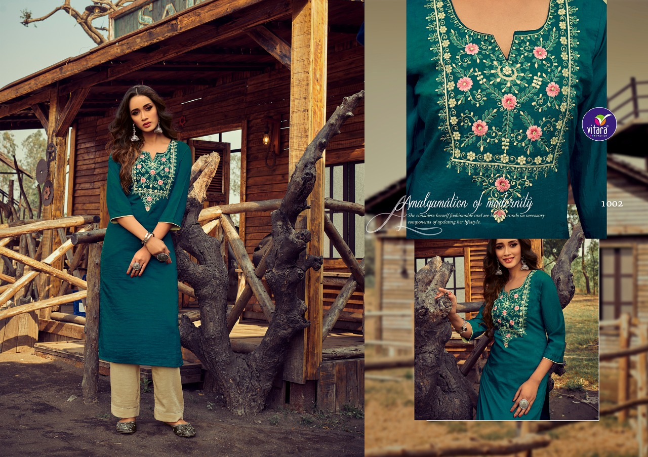 Vitara Rose Marrei Kurti with Pant Wholesale Catalog 6 Pcs 3 - Vitara Rose Marrei Kurti with Pant Wholesale Catalog 6 Pcs