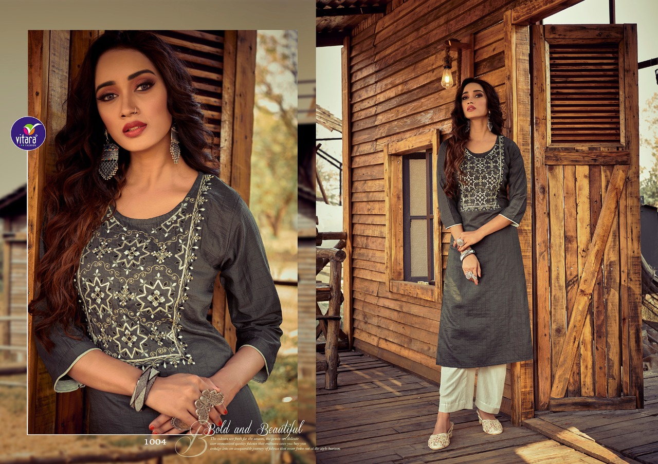 Vitara Rose Marrei Kurti with Pant Wholesale Catalog 6 Pcs 4 - Vitara Rose Marrei Kurti with Pant Wholesale Catalog 6 Pcs
