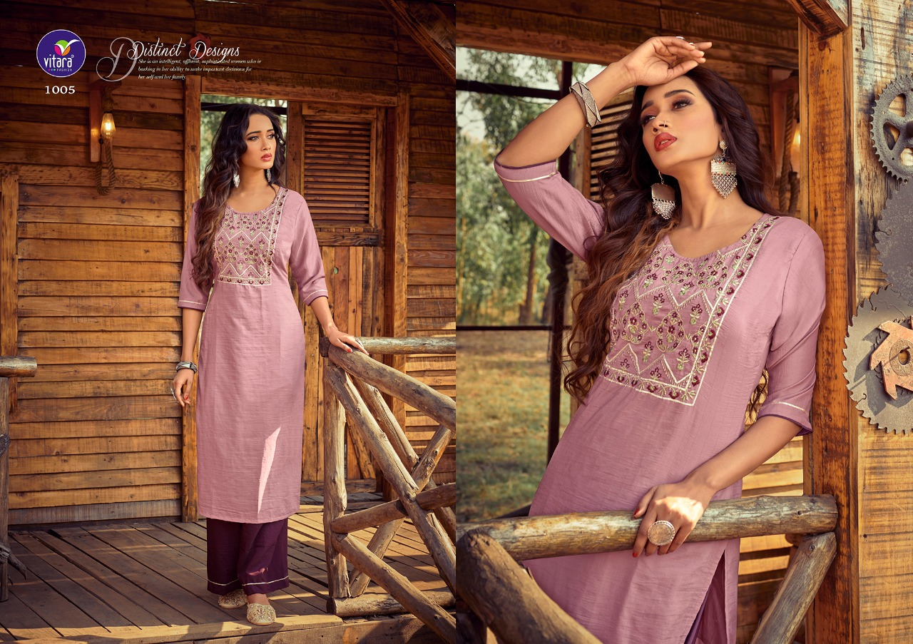 Vitara Rose Marrei Kurti with Pant Wholesale Catalog 6 Pcs 5 - Vitara Rose Marrei Kurti with Pant Wholesale Catalog 6 Pcs