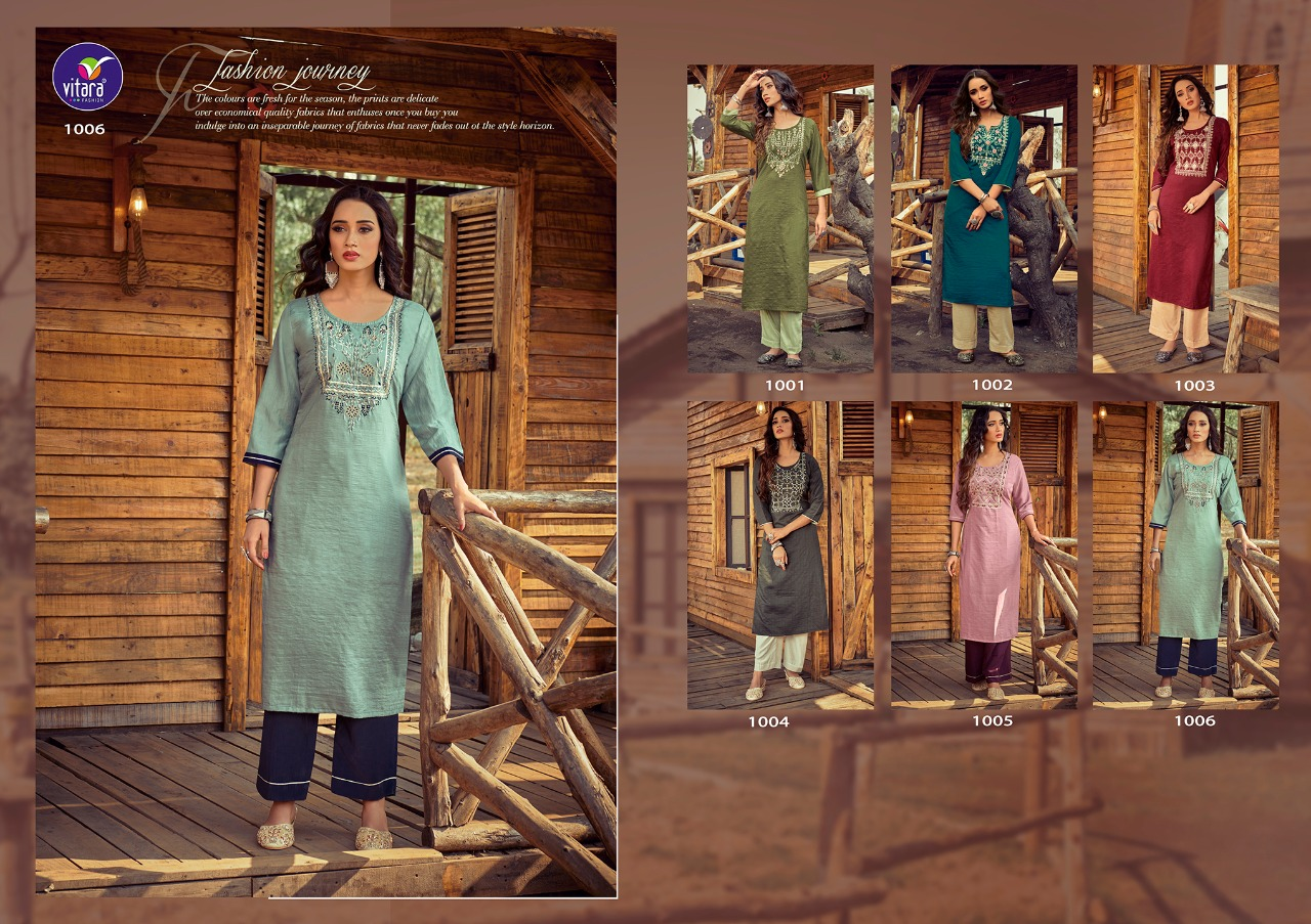 Vitara Rose Marrei Kurti with Pant Wholesale Catalog 6 Pcs 6 - Vitara Rose Marrei Kurti with Pant Wholesale Catalog 6 Pcs