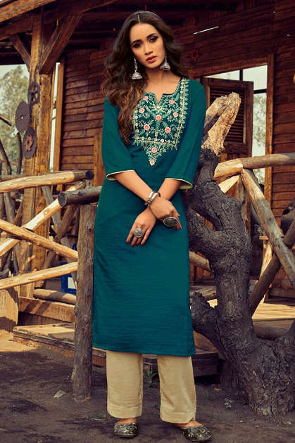 Vitara Rose Marrei Kurti with Pant Wholesale Catalog 6 Pcs - Vitara Rose Marrei Kurti with Pant Wholesale Catalog 6 Pcs