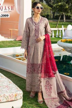 Zarqash Nureh Luxury Lawn by Khayyira Salwar Suit Wholesale Catalog 4 Pcs
