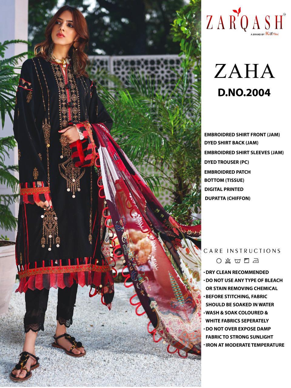 Zarqash Zaha by Khayyira Salwar Suit Wholesale Catalog 4 Pcs 1 - Zarqash Zaha by Khayyira Salwar Suit Wholesale Catalog 4 Pcs