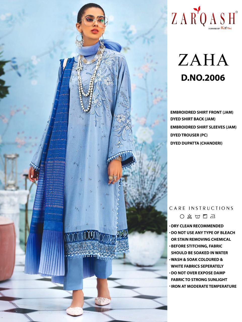 Zarqash Zaha by Khayyira Salwar Suit Wholesale Catalog 4 Pcs 3 - Zarqash Zaha by Khayyira Salwar Suit Wholesale Catalog 4 Pcs