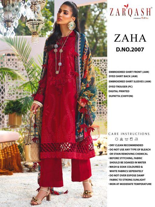 Zarqash Zaha by Khayyira Salwar Suit Wholesale Catalog 4 Pcs 4 510x680 - Zarqash Zaha by Khayyira Salwar Suit Wholesale Catalog 4 Pcs