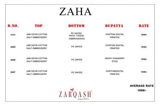 Zarqash Zaha by Khayyira Salwar Suit Wholesale Catalog 4 Pcs 6 510x340 - Zarqash Zaha by Khayyira Salwar Suit Wholesale Catalog 4 Pcs