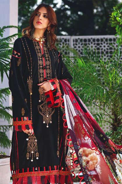 Zarqash Zaha by Khayyira Salwar Suit Wholesale Catalog 4 Pcs