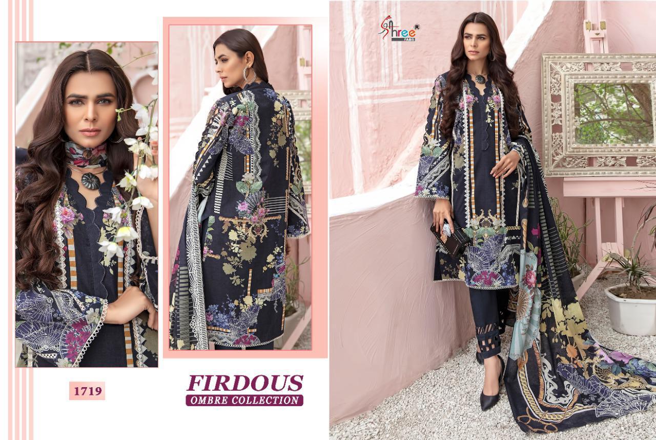 Shree Fabs Firdous Ombre Collection Salwar Suit Wholesale Catalog 10 Pcs 10 - Shree Fabs Firdous Ombre Collection Salwar Suit Wholesale Catalog 10 Pcs